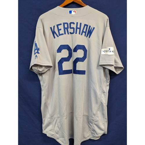 Photo of Clayton Kershaw Team Issued 2017 Road Postseason Jersey