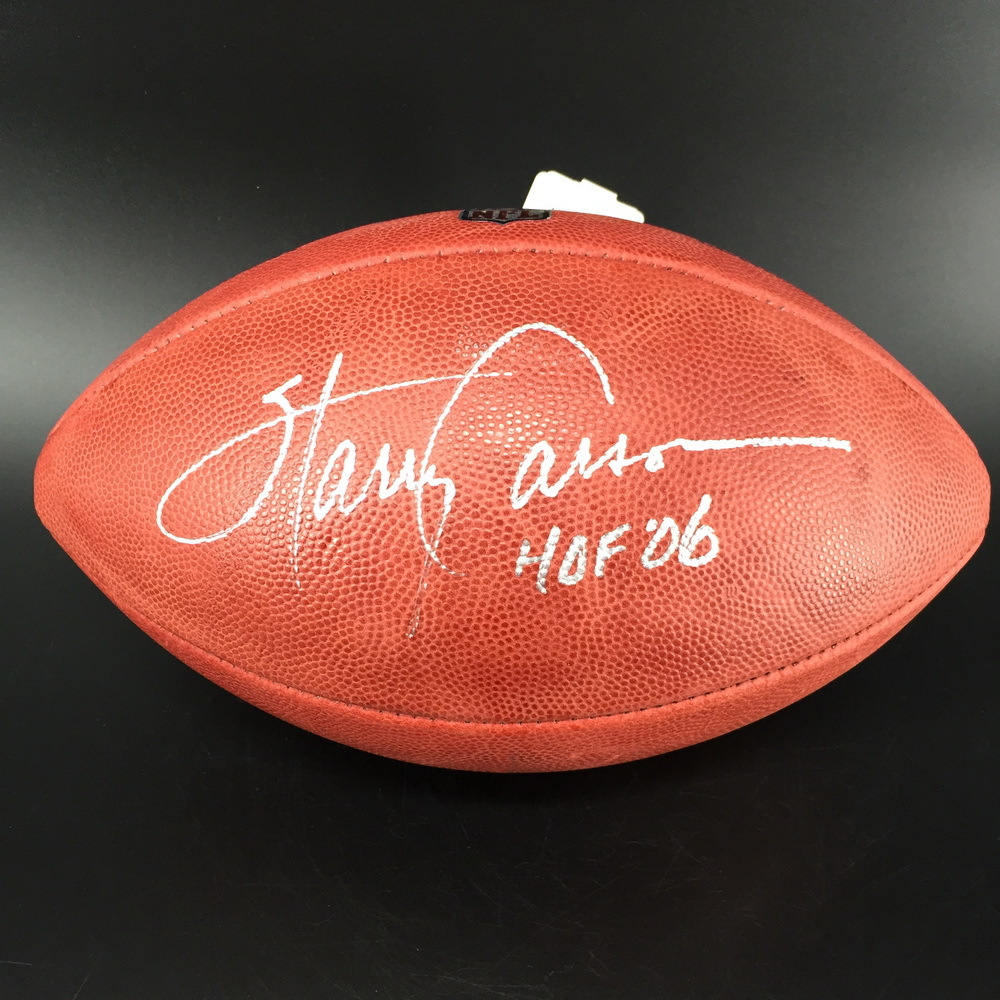 HOF - Giants Harry Carson Signed Authentic Football