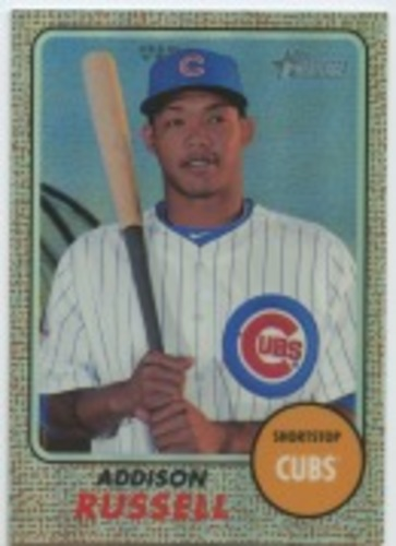 Photo of 2017 Topps Heritage Chrome Refractors #THC424 Addison Russell
