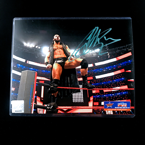 Photo of Drew McIntyre SIGNED SummerSlam Edition 8x10 Photo (Random Number)