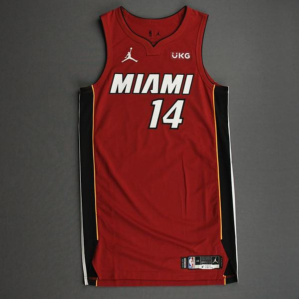 Image of Tyler Herro - Miami Heat - Game-Worn - Statement Edition Jersey - Christmas Day 2020