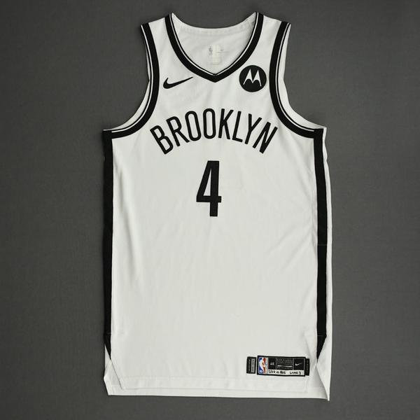 Image of Chris Chiozza - Brooklyn Nets - Game-Worn Association Edition Jersey - Dressed, Did Not Play (DNP) - 2021 NBA Playoffs