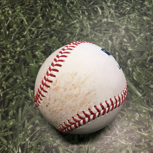 Photo of Game-Used Baseball CIN@MIL 07/11/21 - Josh Hader - Jesse Winker (Strikeout) & Nick Castellanos (Go-Ahead, Two-Run Single)