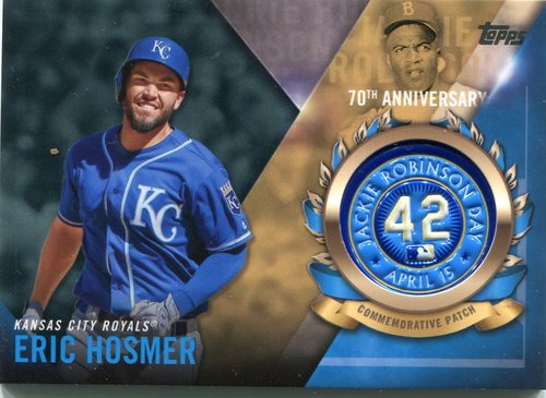 Photo of 2017 Topps Jackie Robinson Logo Patches #JRPCEH Eric Hosmer