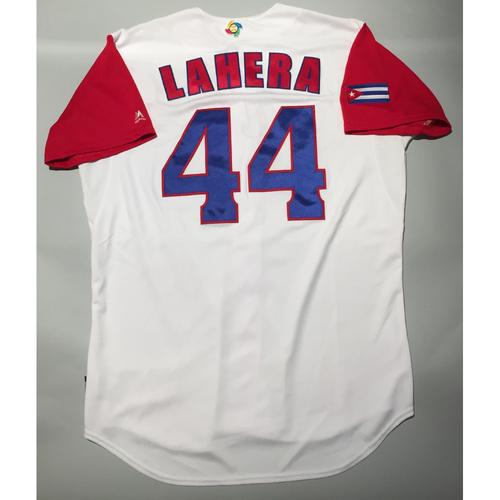 2017 WBC: Cuba Game-Used Home Jersey, Lahera #44