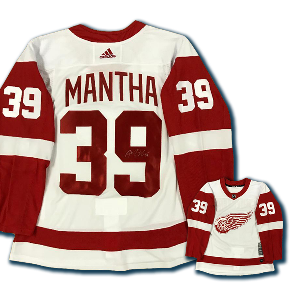 ANTHONY MANTHA Signed Detroit Red Wings White Adidas PRO Jersey