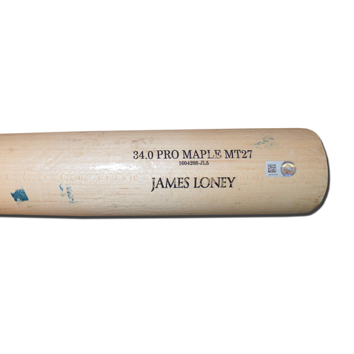 Photo of James Loney #28 - Game Used Bat - Beige Old Hickory Model - Mets vs. Pirates - 6/15/16