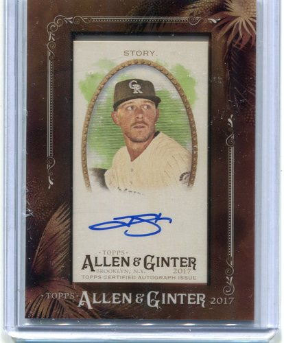 Photo of 2017 Topps Allen and Ginter Framed Mini Autographs Trevor Story