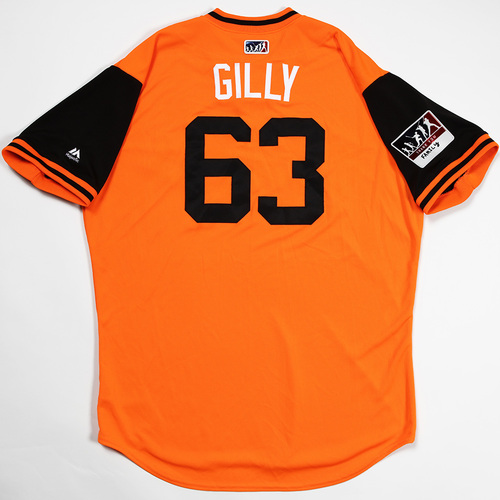 "Photo of Sean ""Gilly"" Gilmartin Baltimore Orioles Game-Used 2018 Players' Weekend Jersey"