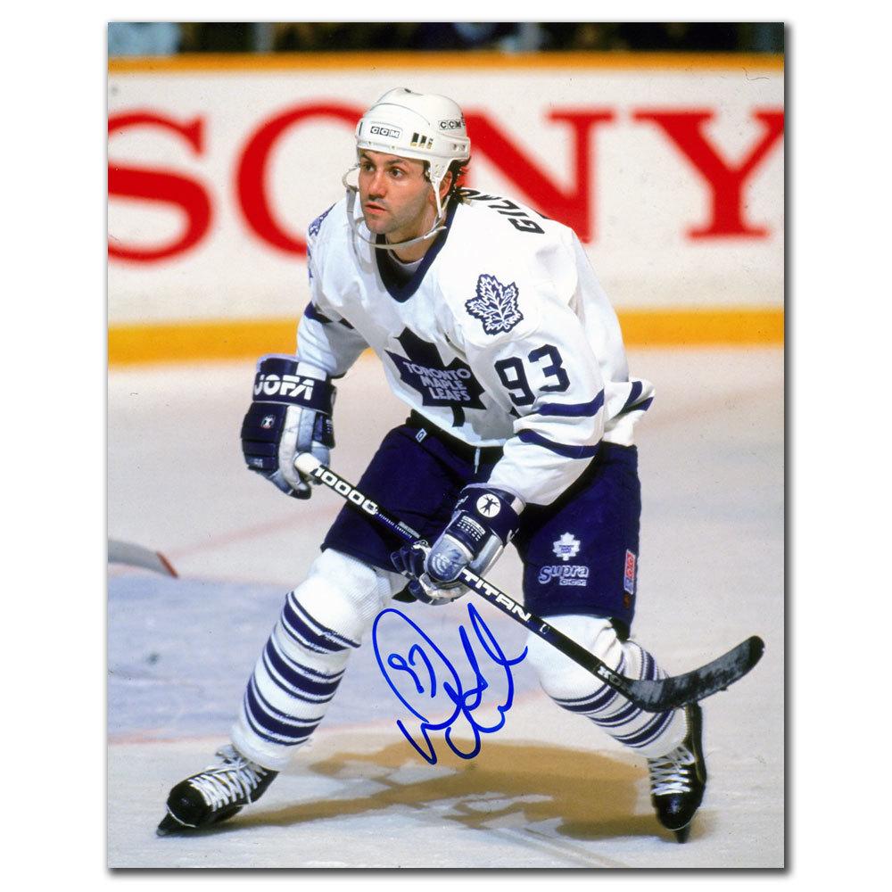 Doug Gilmour Toronto Maple Leafs WHITE JERSEY Autographed 8x10