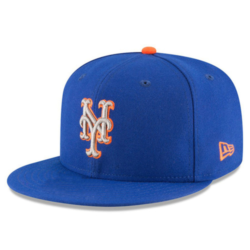 Photo of Dominic Smith #22 - Game Used Blue Alt. Road Hat - 1-3, Home Run - Mets vs. Phillies - 9/29/17