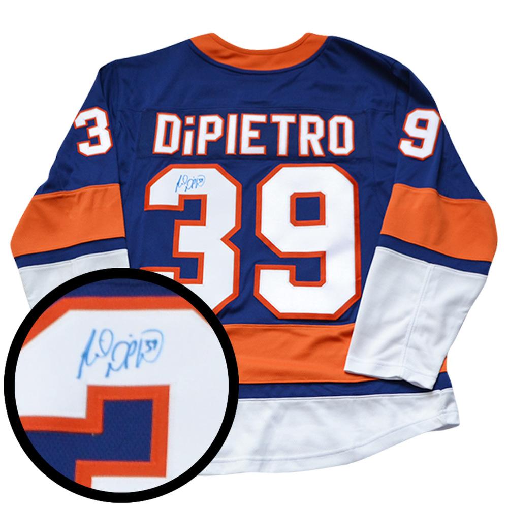 Rick Dipietro Signed Jersey Islanders Replica Blue 2017-2018 Fanatics