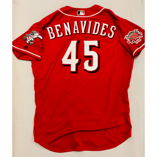 Photo of 2019 Mexico Series Game Used Jersey - Freddie Benavides Size 48 (Cincinnati Reds)