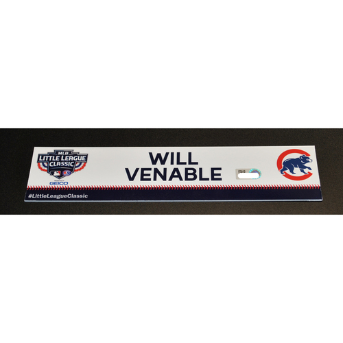 Photo of 2019 Little League Classic - Game Used Locker Tag - Will Venable,  Chicago Cubs at Pittsburgh Pirates - 8/18/2019