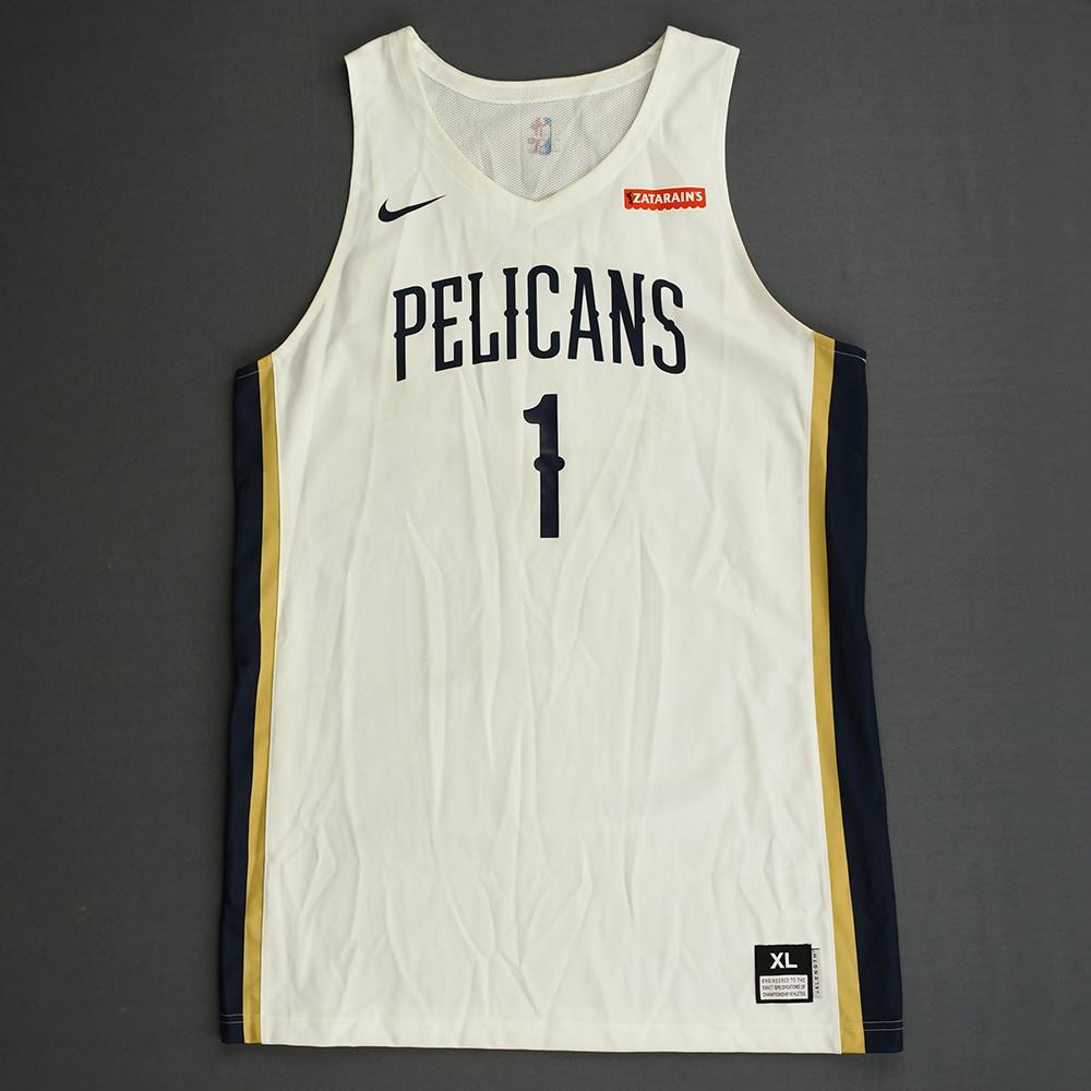 Zion Williamson New Orleans Pelicans Game Worn Jersey