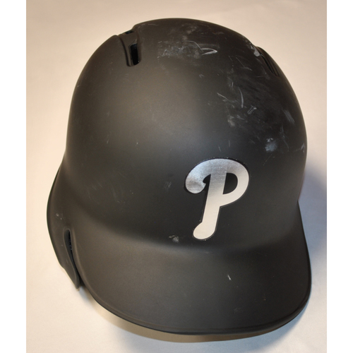 "Photo of Ranger ""SUAREZ"" Suarez Philadelphia Phillies Game-Used 2019 Players' Weekend Helmet"