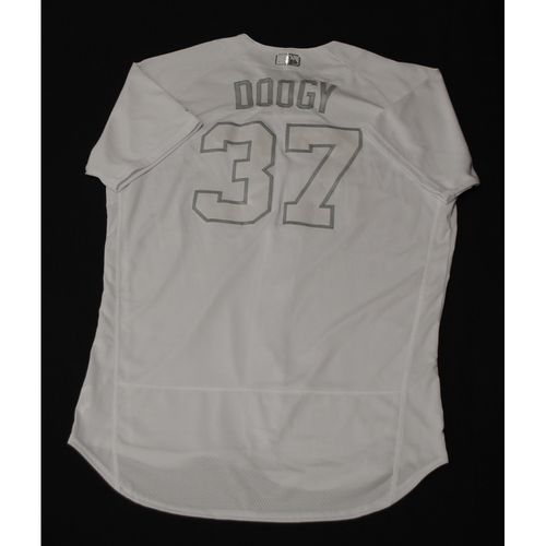 "Photo of Adrian ""DOOGY"" Houser Milwaukee Brewers Game-Used 2019 Players' Weekend Jersey"