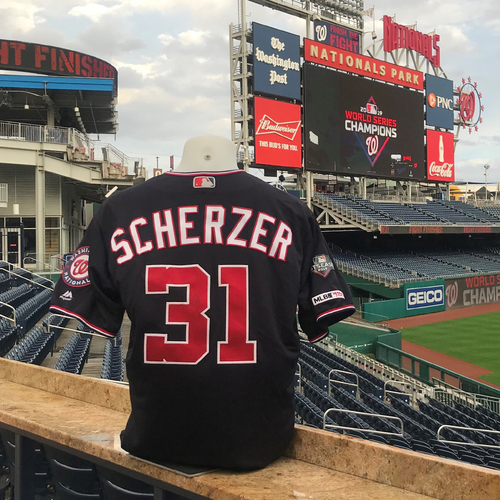 Photo of 2019 NLDS/NLCS Game-Used Jersey: Max Scherzer
