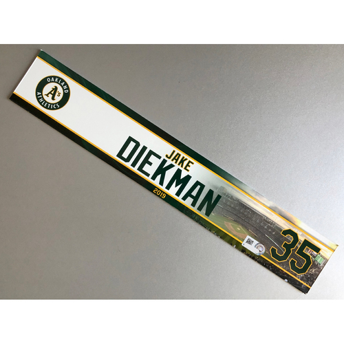 Photo of Team-Issued Jake Diekman 2019 Locker Nameplate