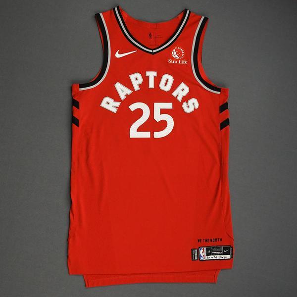 Image of Chris Boucher - Toronto Raptors - Game-Worn Icon Edition Jersey - NBA Japan Games - 2019-20 NBA Season