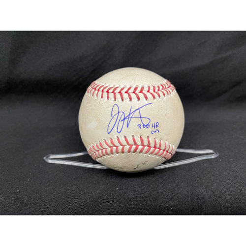Photo of Joey Votto *Game-Used, Autographed & Inscribed* Baseball from 300th Career HR Game - Wade Miley to Kris Bryant (Ball in Dirt) -- 04/30/2021 - CHC vs. CIN - Top 3