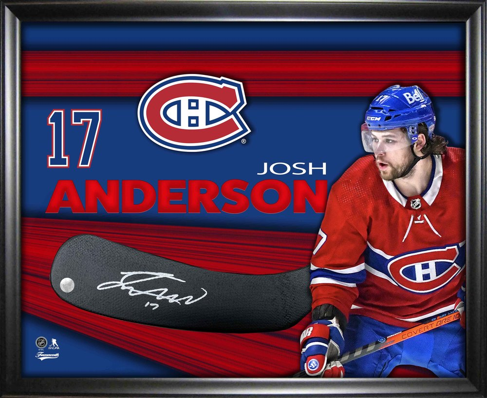 Josh Anderson Signed Montreal Canadiens Stickblade Framed PhotoGlass