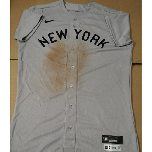 Photo of 2021 New York Yankees vs. Chicago White Sox in Dyersville, Iowa - Game-Used 1919 Throwback Jersey - Rougned Odor - Size 44