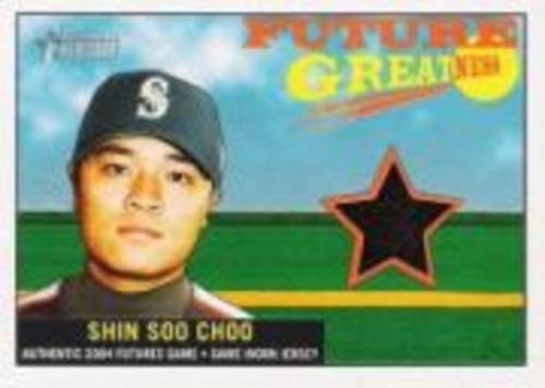 Photo of 2005 Bowman Heritage Future Greatness Jersey Relics #SC Shin Soo Choo C