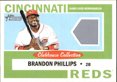 Photo of 2013 Topps Heritage Clubhouse Collection Relics #BP Brandon Phillips