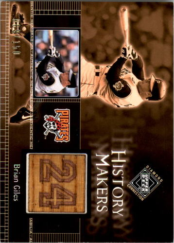 Photo of 2002 Upper Deck Diamond Connection #518 Brian Giles History Makiers Bat Relic Card #d/150 Pirates