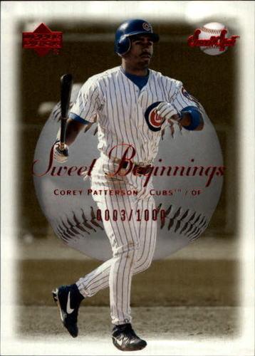 Photo of 2001 Sweet Spot #61 Corey Patterson SB