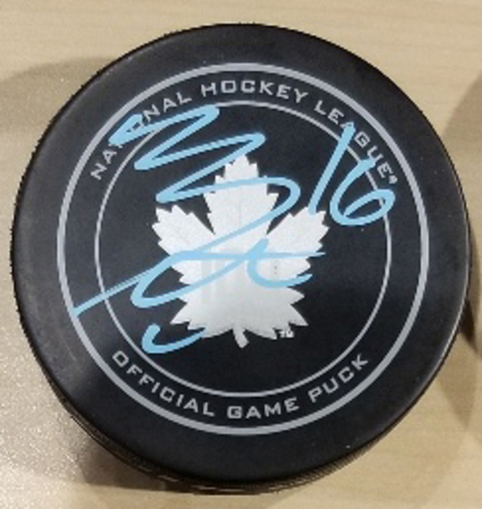 Mitch Marner Toronto Arenas Autographed Hockey Puck *Autograph Slightly Streaky*