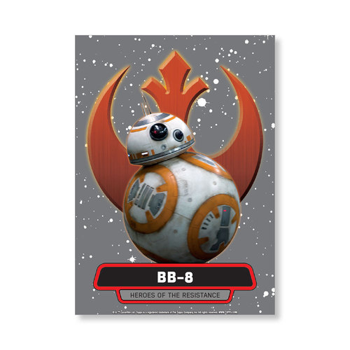 BB-8 2016 Star Wars The Force Awakens Chrome Metal Poster - # to 99