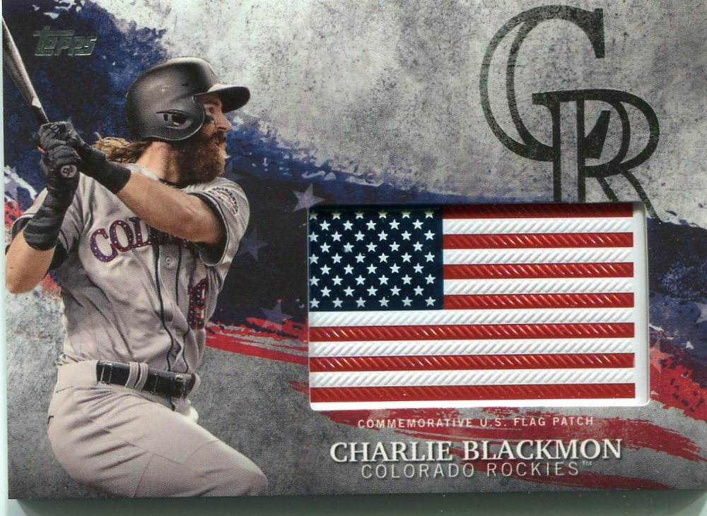 2018 Topps Independence Day U.S. Flag Relics #IDMLCL Charlie Blackmon