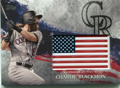 Photo of 2018 Topps Independence Day U.S. Flag Relics #IDMLCL Charlie Blackmon