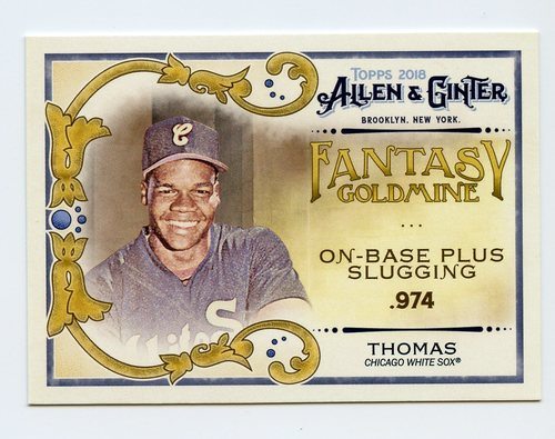 Photo of 2018 Topps Allen and Ginter Fantasy Goldmine #FG14 Frank Thomas