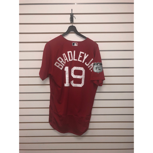 Photo of Jackie Bradley Jr Team-Issued 2017 Spring Training Jersey