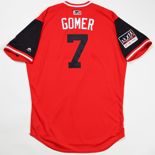 "Photo of Yan ""Gomer"" Gomes Cleveland Indians Game-Used Jersey 2018 Players' Weekend Jersey"