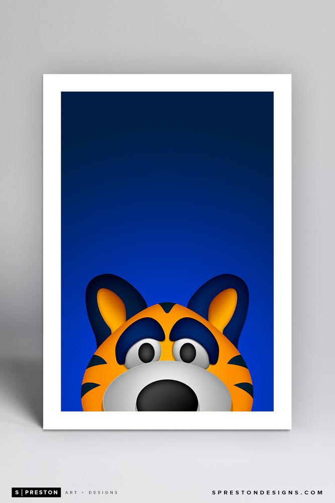 Sabretooth Minimalist NHL Mascot Limited Edition Art Print by S. Preston