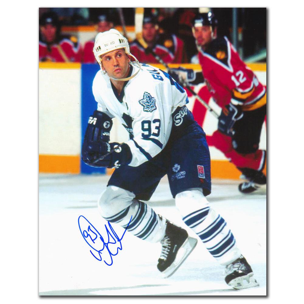 Doug Gilmour Toronto Maple Leafs BREAKOUT Autographed 8x10