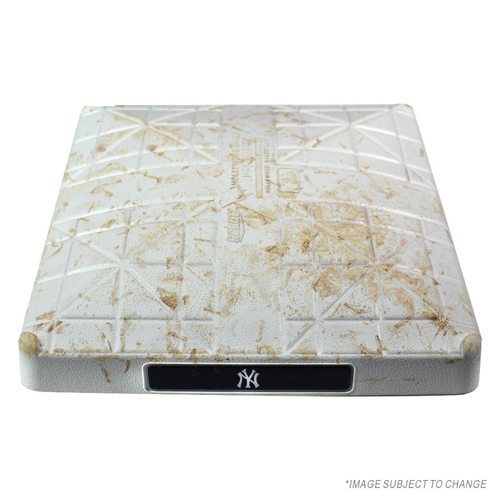 Photo of Braves at Yankees 7-4-2018 Game Used Second Base (Innings 8-9)