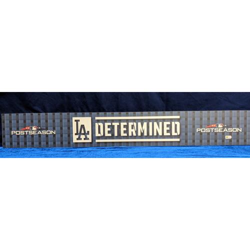 Photo of Los Angeles Dodgers 2018 Post Season Team-Issued Locker Tag