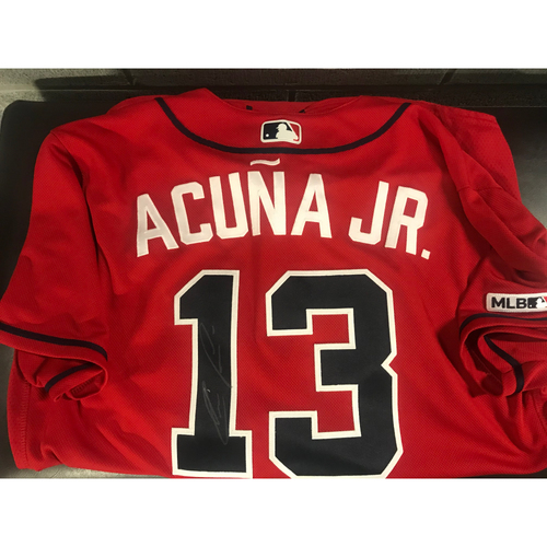 Photo of Ronald Acuna Jr. Game-Used Autographed Jersey