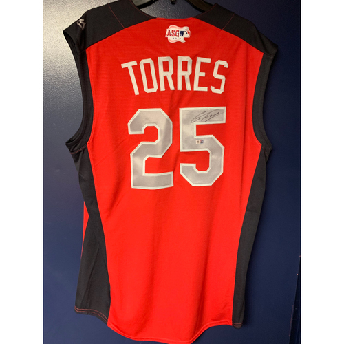 Gleyber Torres 2019 Major League Baseball Workout Day Autographed Jersey