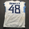 London Games - Titans Beau Brinkley Game Used Jersey (10/21/18) Size 42