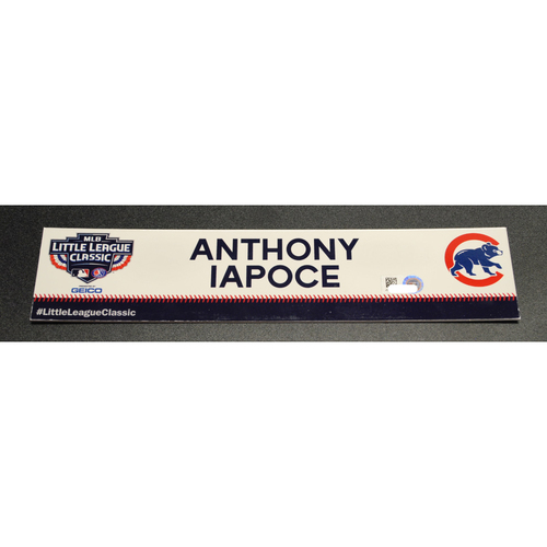Photo of 2019 Little League Classic - Game Used Locker Tag - Anthony Iapoce,  Chicago Cubs at Pittsburgh Pirates - 8/18/2019