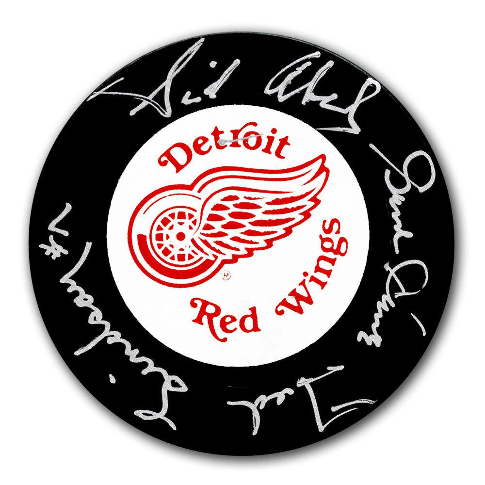 Sid Abel, Gordie Howe & Ted Lindsay Detroit Red Wings Autographed Puck