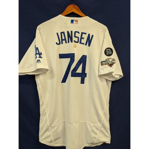 Photo of Kenley Jansen Game Used 2019 Home Postseason Jersey