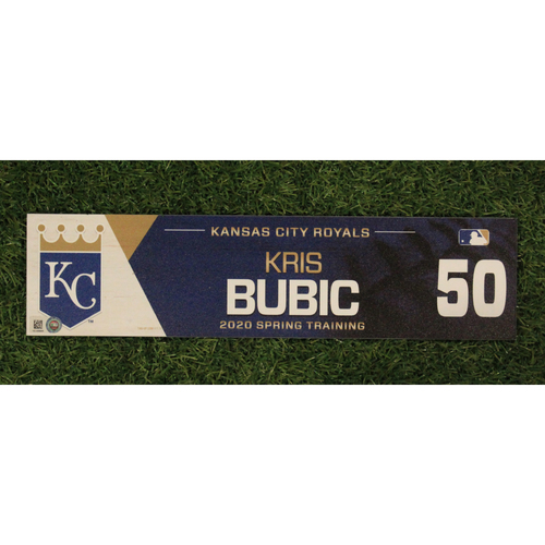 Game-Used Spring Training Locker Tag: Kris Bubic #50