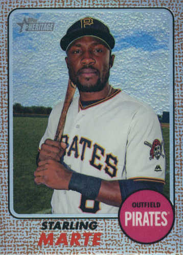 Photo of 2017 Topps Heritage Chrome Refractors #THC459 Starling Marte